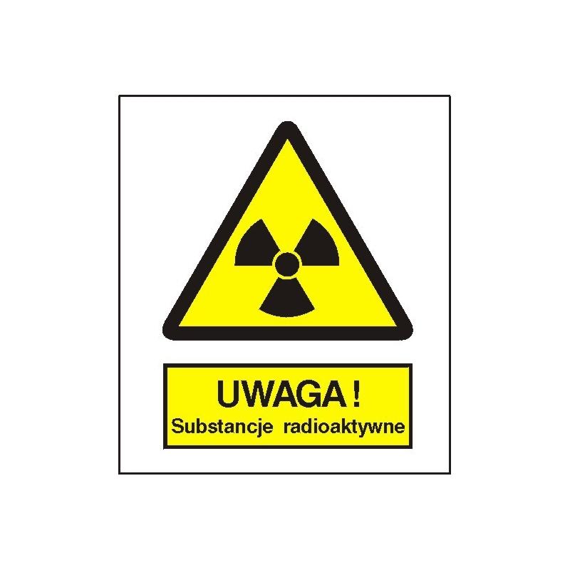 Znak Uwaga subtancje radioaktywne 225x275 PB