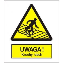 Znak Uwaga kruchy dach 225x275 PB