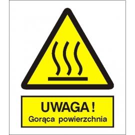 Znak Uwaga gorąca powierzchnia 225x275 PB