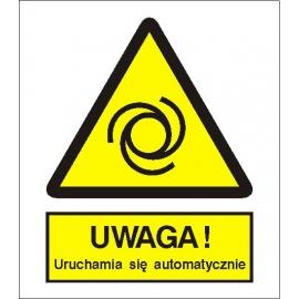 Znak Uwaga automatyczne uruchomienie 225x275 PB