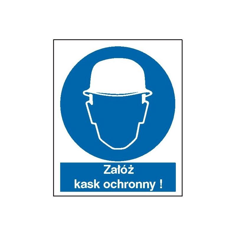 Znak Nakaz stosowania ochrony głowy 225x275 PB