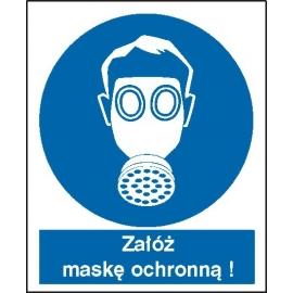 Znak Nakaz stosowania ochrony dróg oddechowych