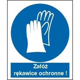 Znak Nakaz stosowania ochrony rąk
