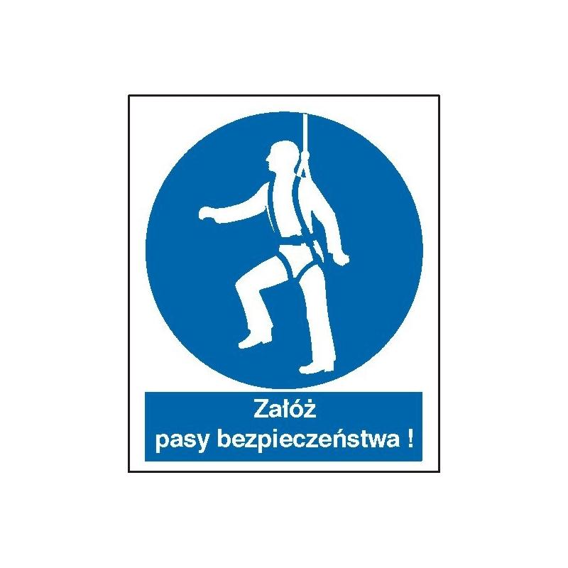 Znak Nakaz używania pasów bezpieczeństwa