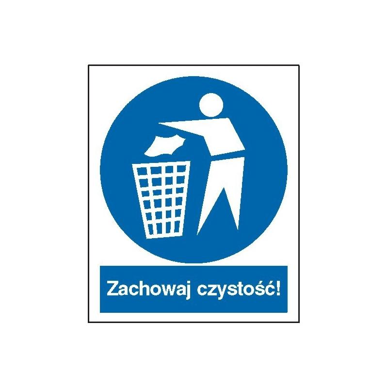 Znak Zachowaj czystość 225x275 PB