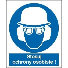 Znak Stosuj ochrony osobiste 225x275 PB