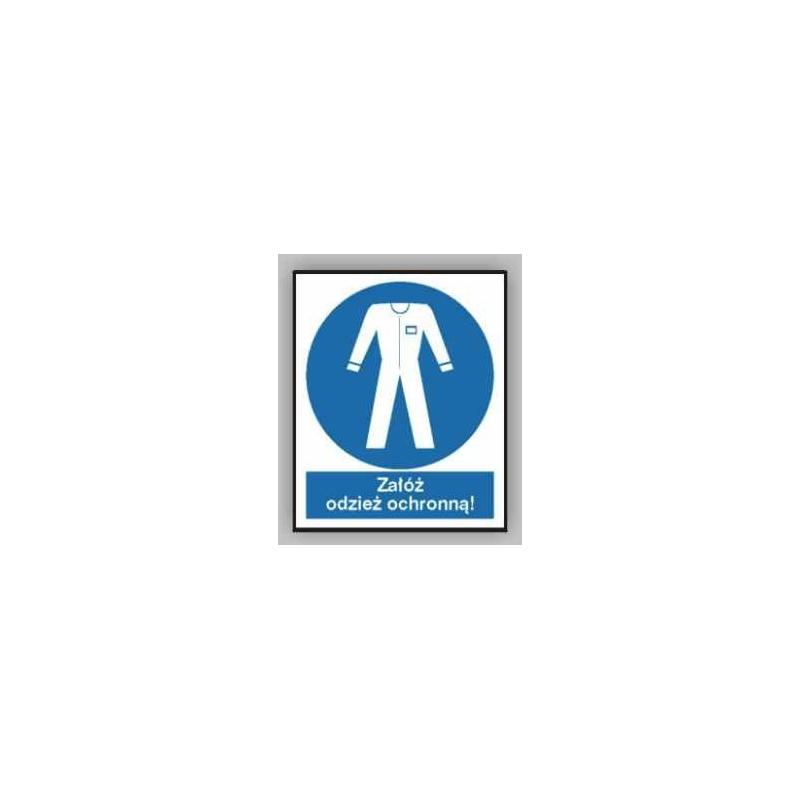 Znak Stosuj odzież ochronną 225x275 PB