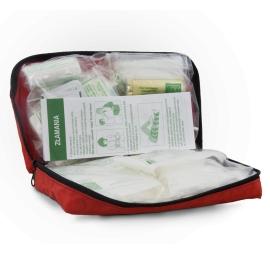 Apteczka z wyposażeniem saszetka L-2 DIN 13164 + aparat do sztucznego oddychania