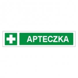 Znak Apteczka pasek 200x60 FB