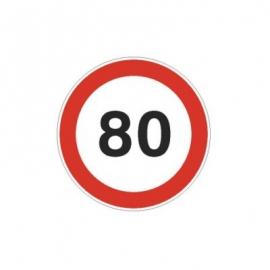 Tablica ADR Ograniczenie prędkości  80km/h 20x20