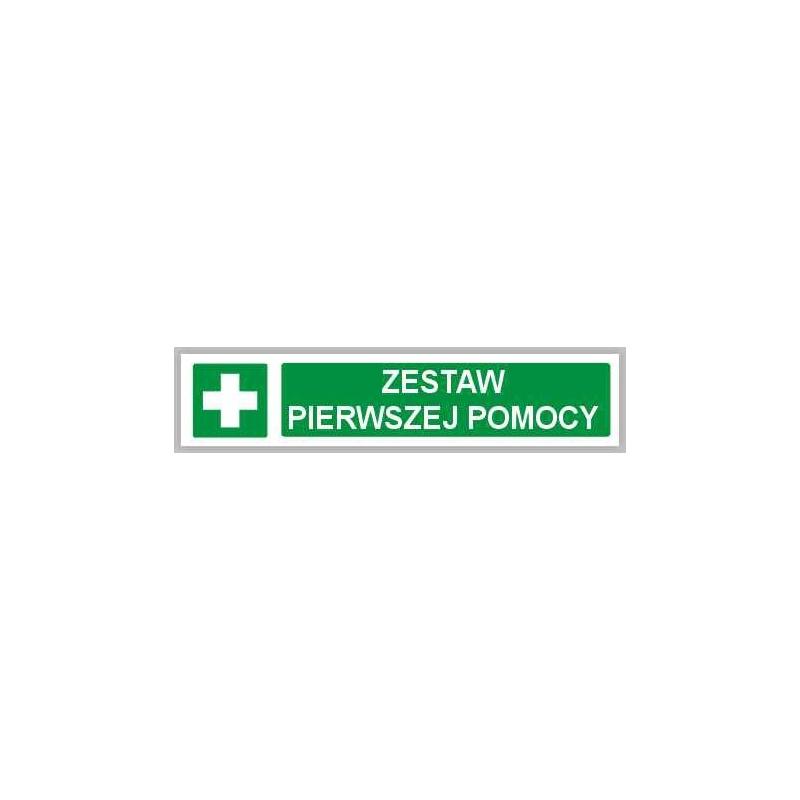 Znak Zestaw pierwszej pomocy (pasek) 200x50 FB
