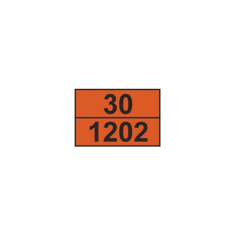 Tablica ADR 001/1 cyfrowa /30-1202/ 300x400 AL