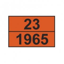 Tablica ADR 001/6 cyfrowa /23-1965/ 300x400 AL