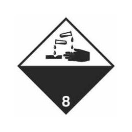 Tablica ADR 017/ 3 Ost. Materiały żrące 300x300 AL