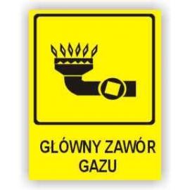 Znak Główny zawór gazu 150x200 FB