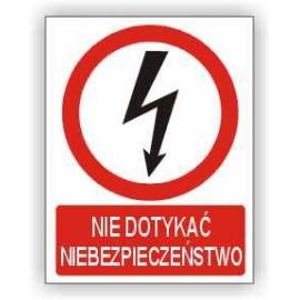Znak Nie dotykać PB