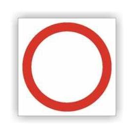 Znak Zakaz ruchu w obu kierunkach 330x330 PB