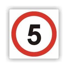 Znak Ograniczenie prędkości do 5 km 330x330 PB