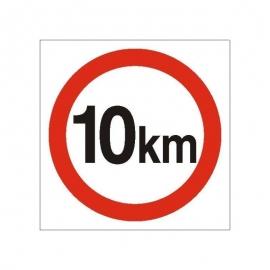 Znak Ograniczenie prędkości do 10 km 330x330 PB