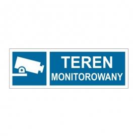 Znak Teren monitorowany 300x100 PB