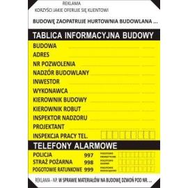 Znak Tablica informacyjna 500x700 z reklamą
