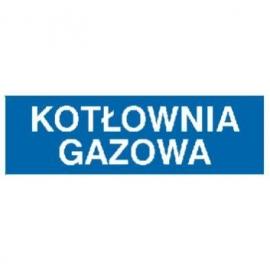 Znak Kotłownia gazowa 300x100 PB