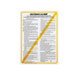 Instrukcja BHP obsługi strugarek do metali
