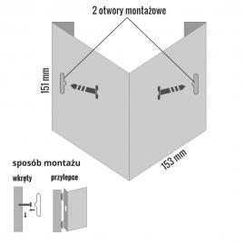 Wysięgnik do znaków 3D V 150x150 mm PCV