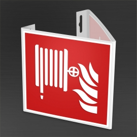 Znak Hydrant PF + wysięgnik 3D 200/200 mm PCV
