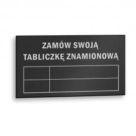Znak na zamówienie płyta ALU TAB 0,5 mm 1,5x4cm