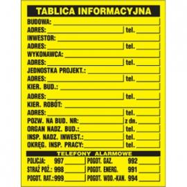 Znak Tablica informacyjna 700x900