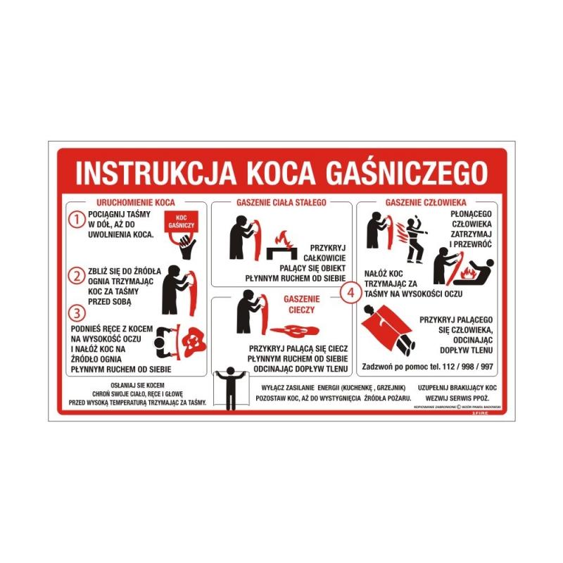 Instrukcja obsługi koca gaśniczego płyta PCV – PB