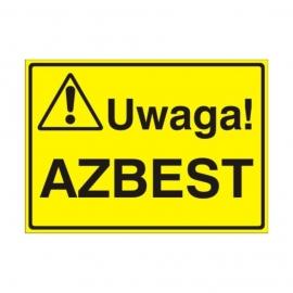 Znak Tablica Uwaga! Azbest