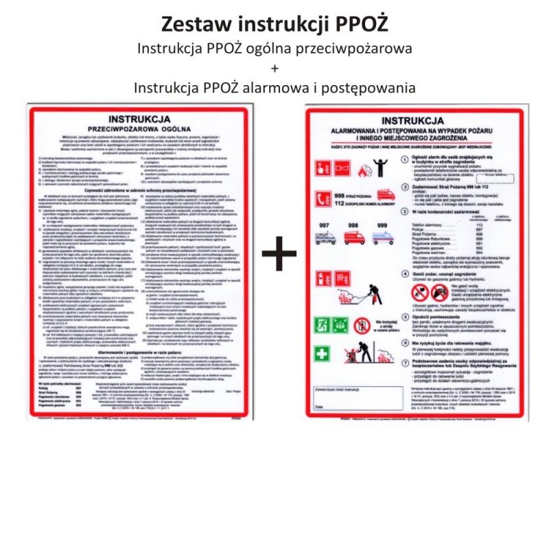 Zestaw Instrukcja PPOŻ. ogólna + PPOŻ. alarmowania