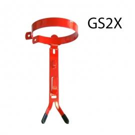 Wieszak gaśnicy podwójny uchwyt GS2 FS z obejmą
