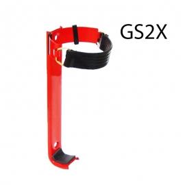 Wieszak gaśnicy GS-2x z opaska - guma K