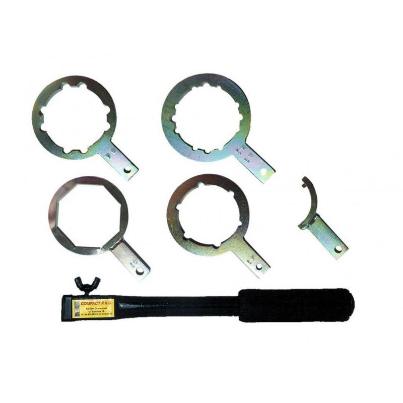 Komplet kluczy do gaśnic typu Z (5 szt. +uchwyt)