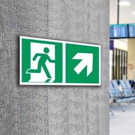 Znak LEVI Kierunek do wyjścia ewakuacyjnego E02-PG 300x150 PF