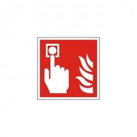 Znak LEVI F05 Alarm pożarowy 150x150 PF