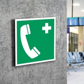 Znak LEVI E04 Telefon alarmowy E004 PF