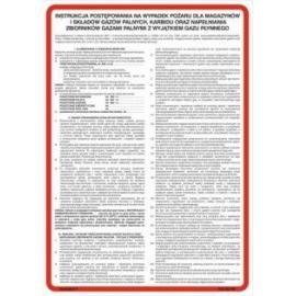 Instrukcja PPOŻ. postępowania na wypadek pożaru dla magazynów i składów gazów palnych