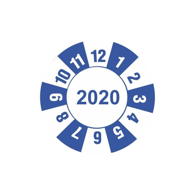 """Etykieta """"kółko z datą 2020"""" folia"""