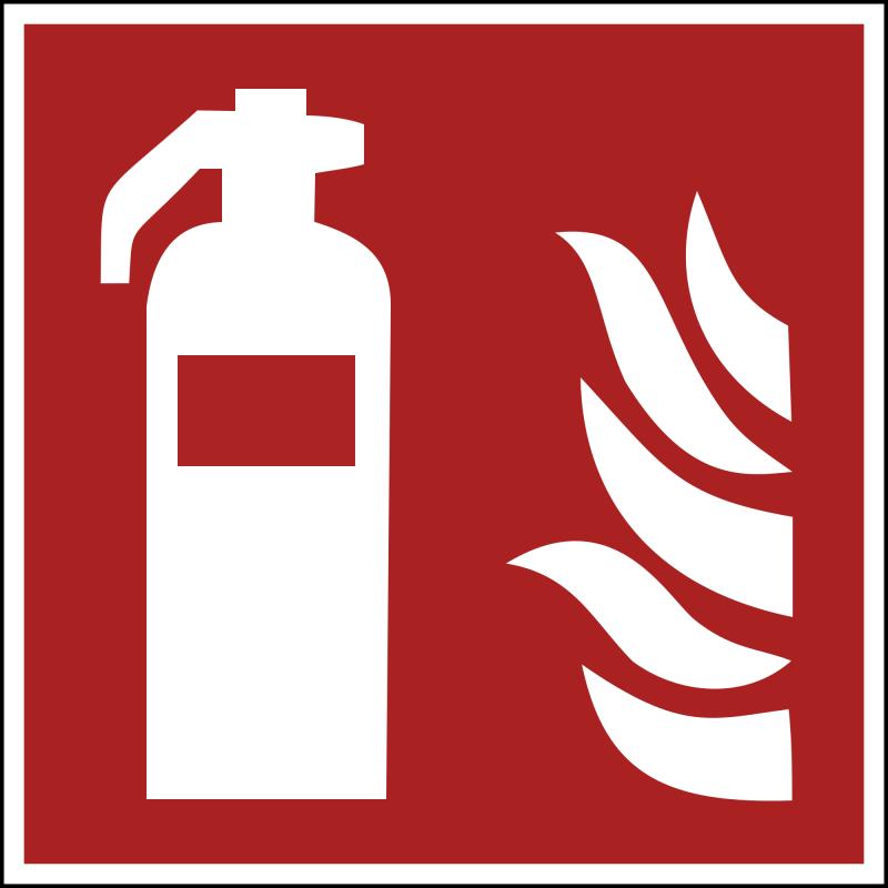 Znak F001 Gaśnica plik elektroniczny