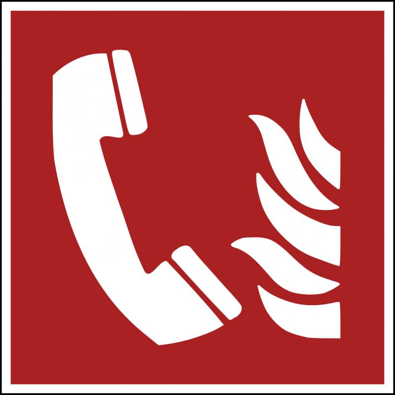 Znak F006 Telefon alarmowania pożarowego plik elektroniczny