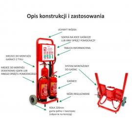 Mobilny wózek na 3 gaśnice Trolley2
