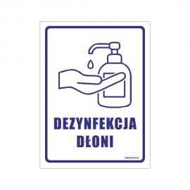Znak DEZYNFEKCJA DŁONI 150x200 FB
