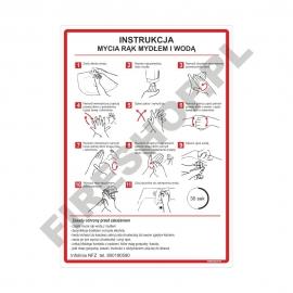 Instrukcja mycia rąk mydłem i wodą FS