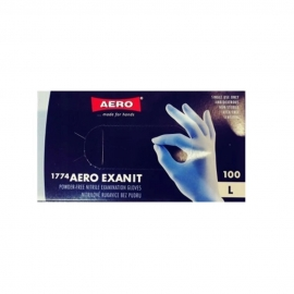 Rękawice jednorazowe nitrylowe bezpudrowe  L