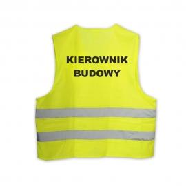 Kamizelka LYNX Hi-Vis żółta KIEROWNIK BUDOWY