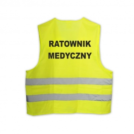 Kamizelka LYNX Hi-Vis żółta RATOWNIK MEDYCZNY